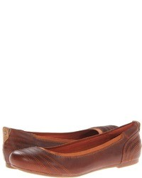 Brown Leather Ballerina Shoes