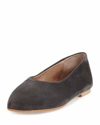 Coclico Pril Leather Ballerina Flat Carbon