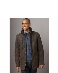 Brown Leather Barn Jacket