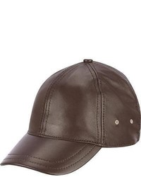 Wilsons Leather Distressed Lamb Baseball Cap Brown