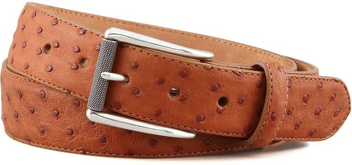 W.KLEINBERG 1 38 Ostrich Belt Dark Brown