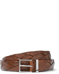 Brunello Cucinelli 25cm Brown Braided Leather Belt