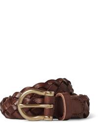 J.Crew 25cm Brown Braided Leather Belt