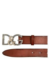 Dolce & Gabbana 30 Mm Dg Buckle Leather Belt