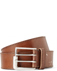 Maison Margiela 35cm Tan Distressed Leather Belt