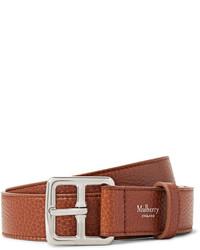 Mulberry 3cm Brown Boho Full Grain Leather Belt