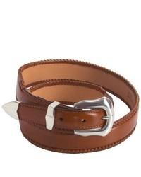 3D Western Leather Belt Brown
