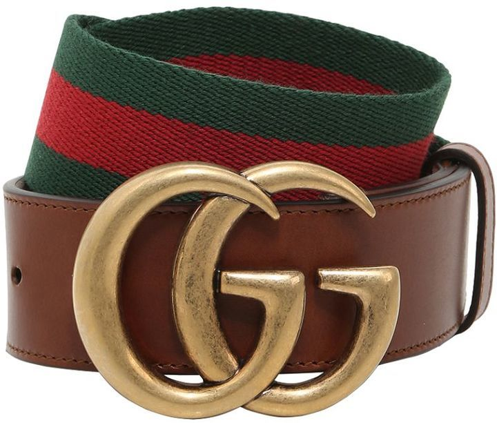 008fd9251d7 ... Brown Leather Belts Gucci 40mm Gg Marmont Web Leather Belt ...