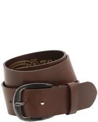 Diesel 40mm Treated Leather Belt
