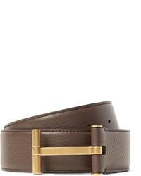 Tom Ford 4cm Brown Full Grain Leather Belt