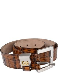Dolce & Gabbana Bamboo Texture Leather Belt