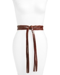 Braided leather wrap belt medium 4014735