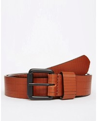 Asos Brand Hand Carved Leather Belt