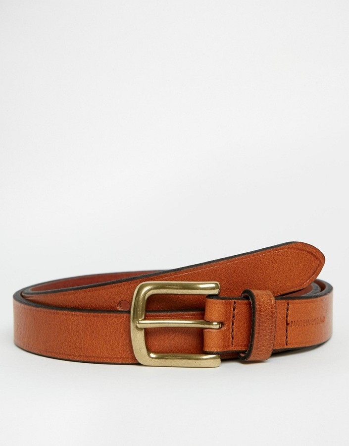 Asos Brand Leather Made In England Belt