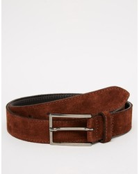 Asos Brand Smart Suede Belt With Stitch Detail