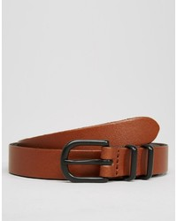 Asos Brand Smart Super Skinny Leather Belt