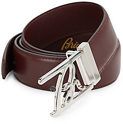 Brioni Tang Buckled Leather Belt