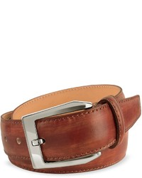 Pakerson Brown Hand Painted Italian Leather Belt