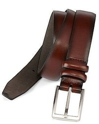 Claiborne Brown Leather Belt Wdouble Keep