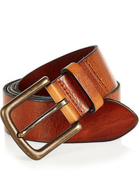 River Island Brown Leather Wide Belt