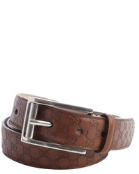 Gucci Brown Ssima Leather Belt