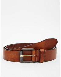 Diesel Burnished Leather Belt