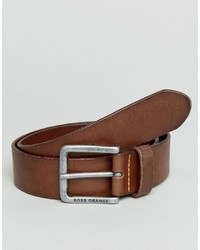 Boss Orange By Hugo Boss Leather Belt Brown