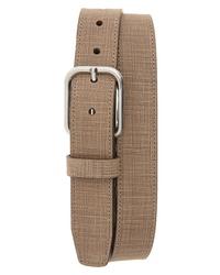 Johnston & Murphy Crosshatch Leather Belt