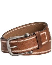 Danbury Milled Leather Belt Brown