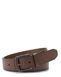 Fossil Dark Brown Carson Leather Belt