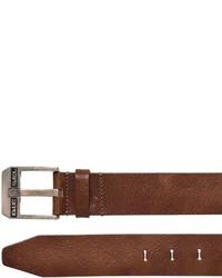 Diesel Vintage Effect Leather Belt