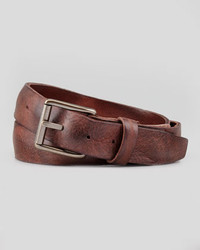 Will Leather Goods Distressed Leather Work Belt Brown