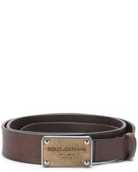Dolce & Gabbana Metallic Logo Plaque Belt