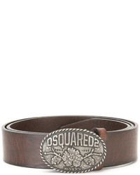 DSQUARED2 Oval Logo Buckle Belt