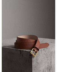 Burberry Embossed Leather Belt