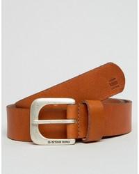 G Star G Star Zed Leather Belt In Tan
