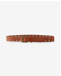 Express Genuine Leather Double Prong Belt