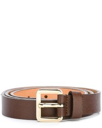 Lardini Gold Tone Buckle Belt