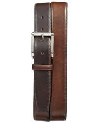 Santoni Hand Antiqued Leather Belt