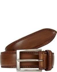Harris Burnished Leather Belt Brown