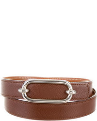 Hermes Herms Textured Leather Belt