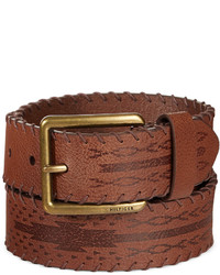 Tommy Hilfiger Laced Edge Brown Cowboy Belt