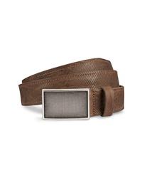 Allen Edmonds Laser Plaid Leather Belt