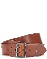 Saint Laurent Leather Press Stud Belt
