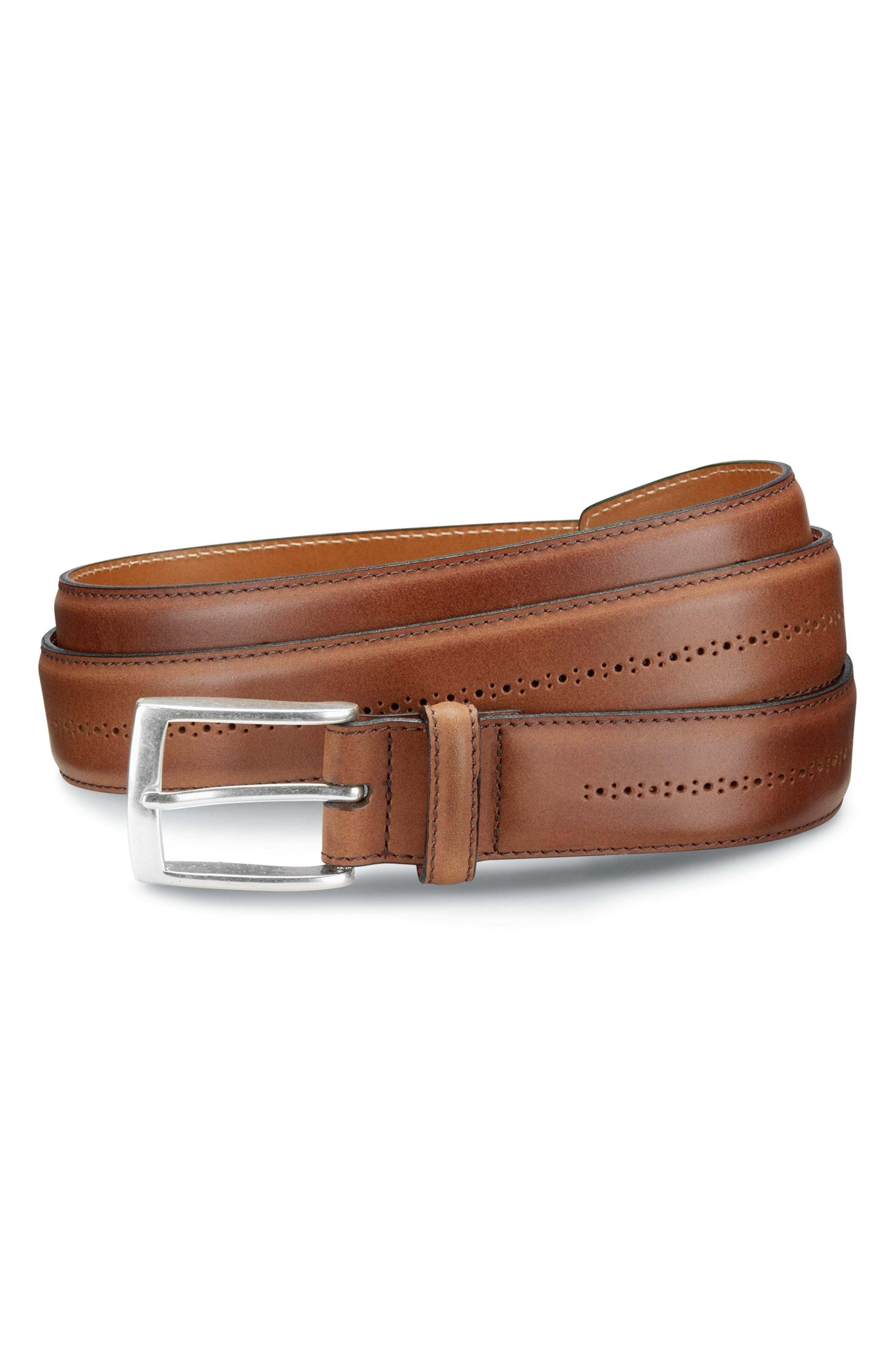 Allen Edmonds Mackey Ave Leather Belt