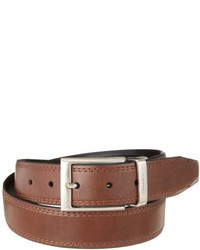 Nautica 35mm Saddle Leather Reversible Belt