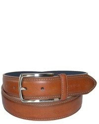Nautica Feathered Edge With Double Stitch Casual Leather Belt
