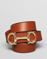 Salvatore Ferragamo Parigi Double Gancini Leather Belt