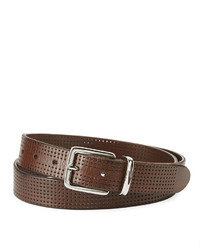 Brunello Cucinelli Pierced Leather Belt