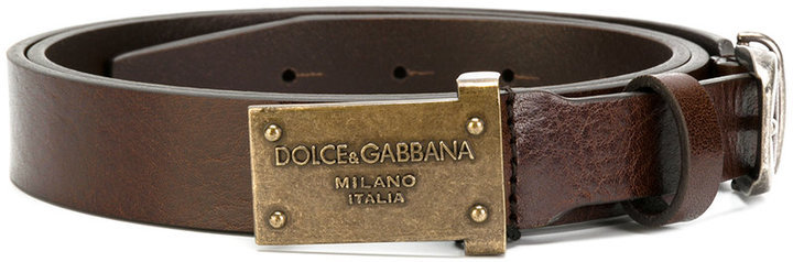 Dolce & Gabbana Plate Buckled Belt